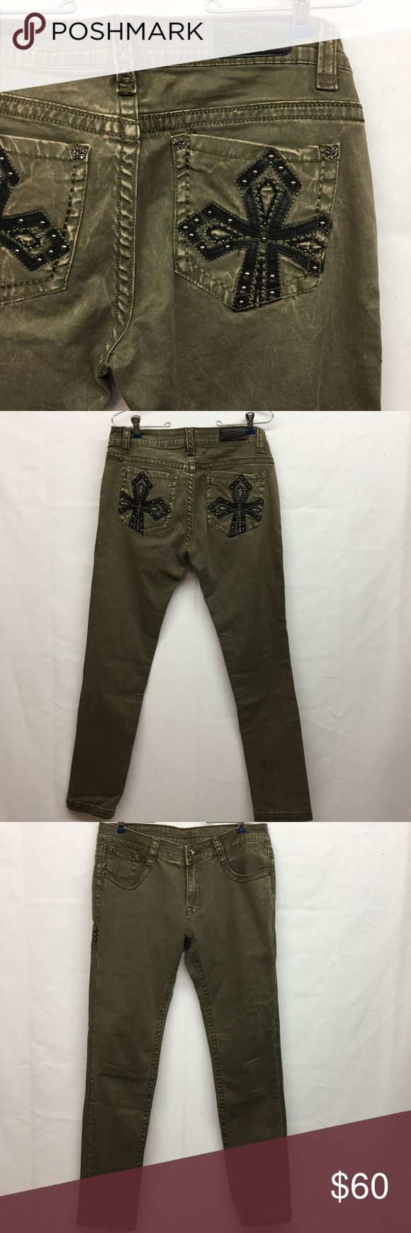 """Rose Royce Military Green Skinny Jeans Rose Royce Military green skinny jeans. NWOT. No flaws. Any appearance of wear is factory intentional. Size 30. Waist laying flat 16"""". Rise 9"""". Inseam 30 1/2"""". Rose Royce Jeans Skinny"""