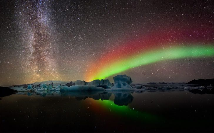 rainbow aurora in Iceland - now that would be magical to see