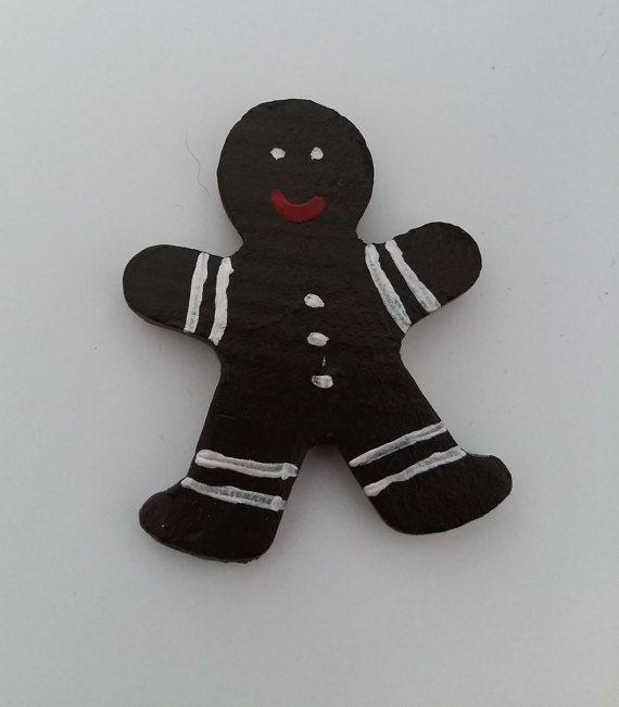 Brown Gingerbread magnet Christmas by Dancingunderarainbow on Etsy