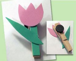 Cute tulip magnet for Mother's Day  #kids #activity #mothersday