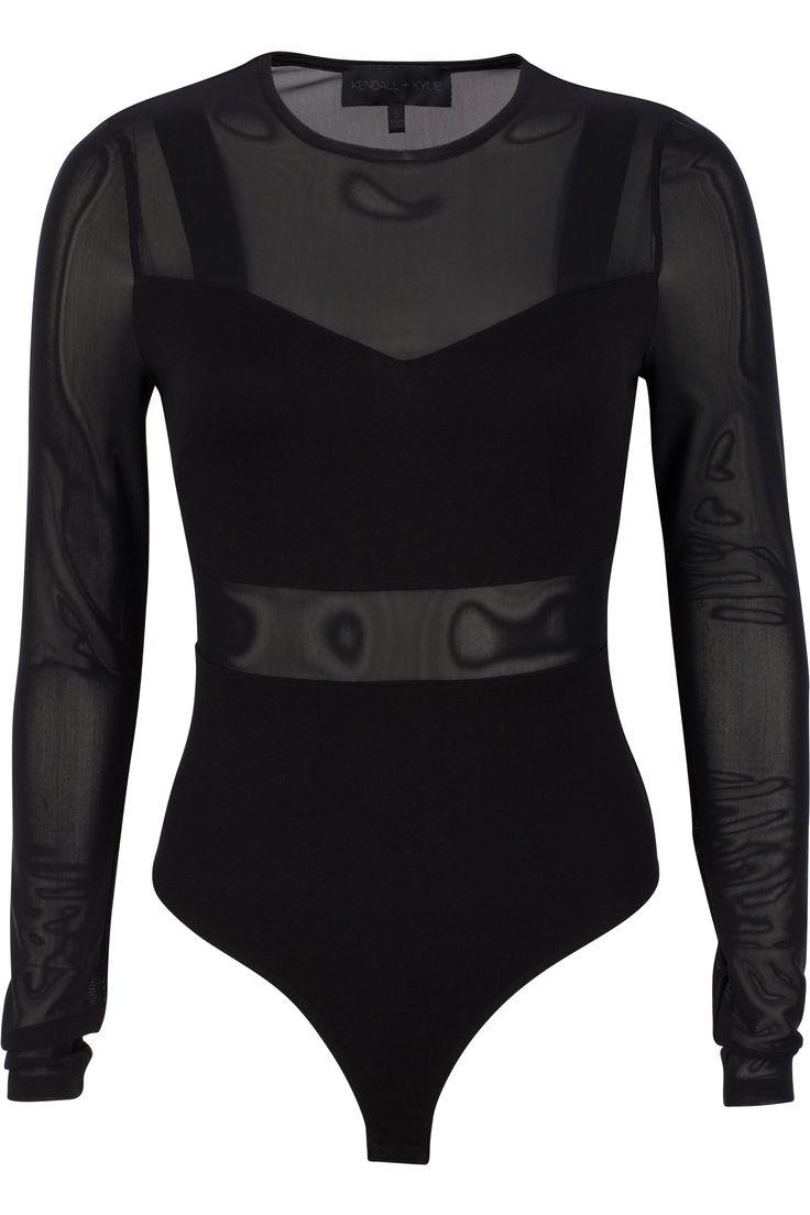 Stretch mesh and jersey bralette bodysuit body: 62%rayon33% nylon5% spandex;mesh: 95%nylon5%spandex;lining: 100%cotton