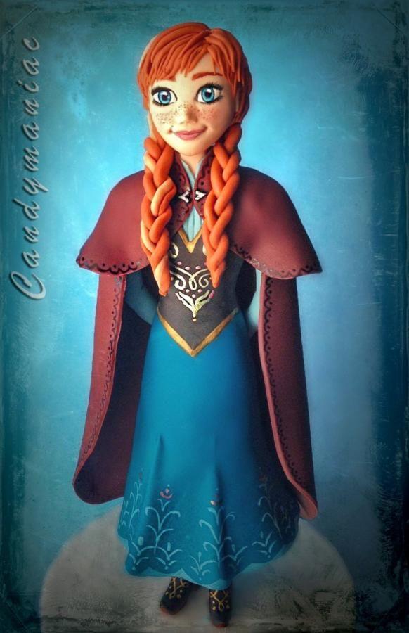 Anna (frozen)  - Cake by candymaniac