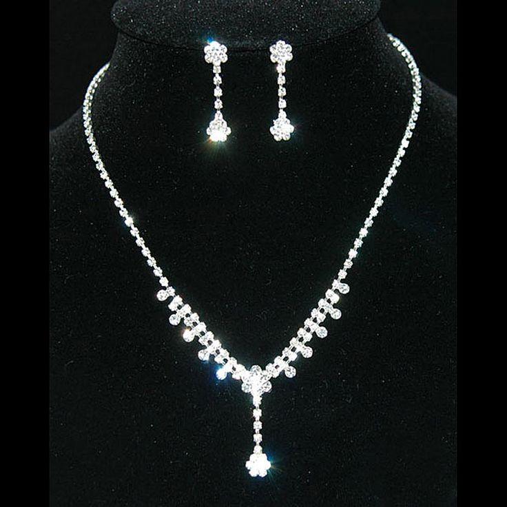 Люкс свадебное ну вечеринку качество болтаться цветок ожерелье серьги комплект невесты CS1134