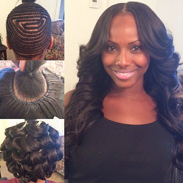 """Middle part with my signature pin curls #hairbyme"""