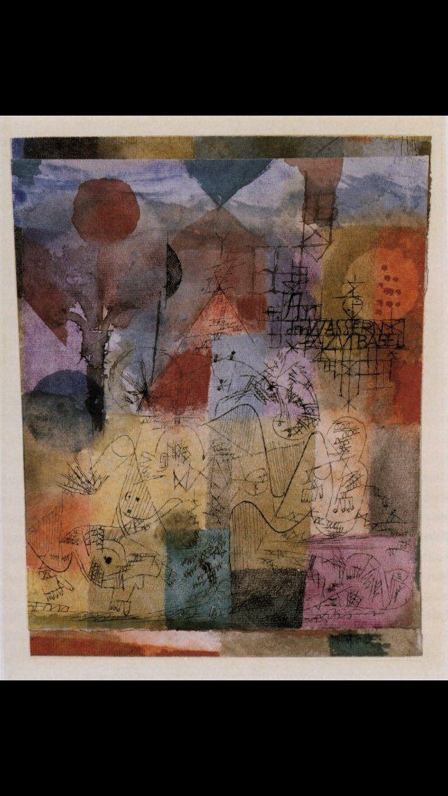 Paul Klee An den Wassern zu Babel 1918
