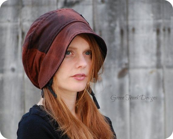 Black Oak Slouchy Beanie Hat Recycled T-shirt Hat from Green Trunk Designs on Etsy.  This girl makes some really lovely hats!