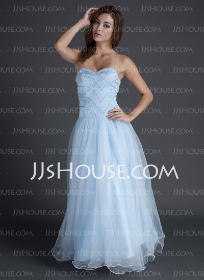 Prom Dresses - $162.49 - A-Line/Princess Sweetheart Floor-Length Organza Satin Prom Dresses With Beading (018015566) http://jjshouse.com/A-line-Princess-Sweetheart-Floor-length-Organza-Satin-Prom-Dresses-With-Beading-018015566-g15566