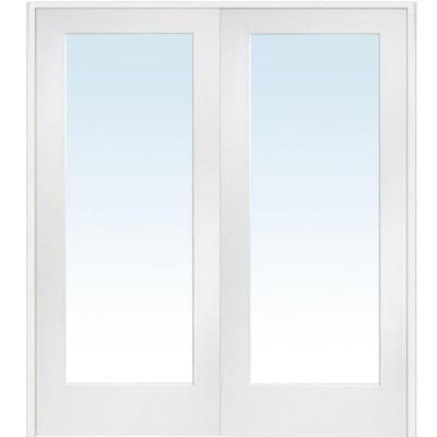 Milliken Millwork 72 in. x 80 in. Classic Clear Glass 1-Lite Composite Double Prehung Interior French Door - Z009302BA - The Home Depot