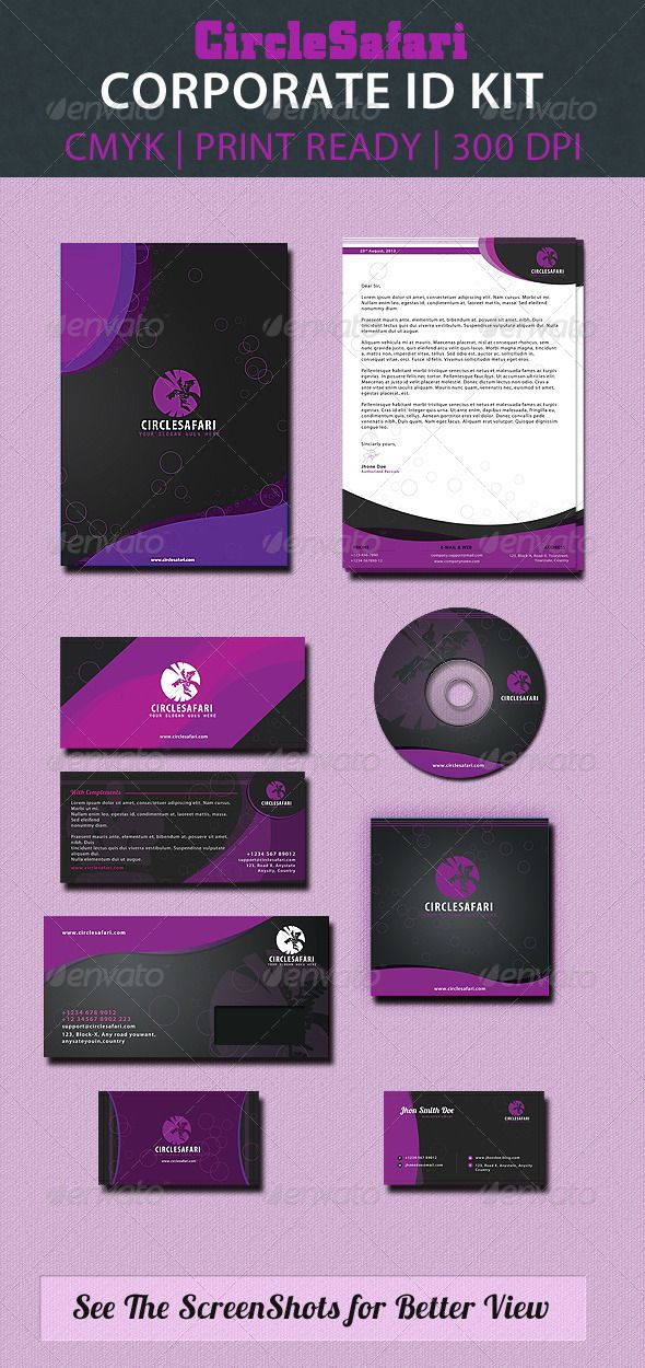 Circlesafari Corporate Id Pack  #GraphicRiver         This is a pack of premium corporate ID. A set of 7 elements for your business. Organized layers and very easy to edit and customize. Layers and elements are very easy to find, proper named layers in separate PSD files. Color can also be changeable.  Features   100% Print ready  CMYK color mode  300 dpi  Easy to change the color  Font used: Myriad Pro (System font)  Flexible Design  Smart Object used   Included Elements:   Letterhead A4 –…