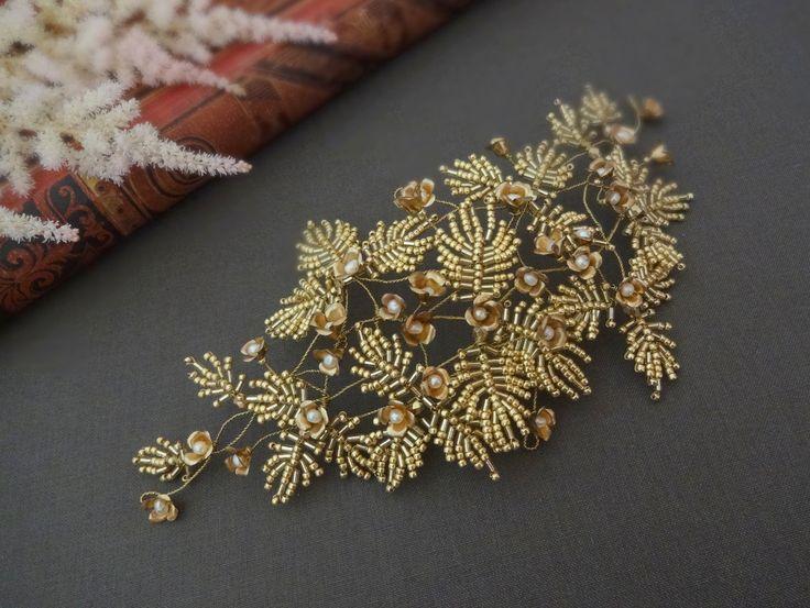 Handmadebridalhairpiece. #weddingheadpiece #hairpiece #weddingaccessories #wedding #bridalheadpiece #bridalaccessories #bridalhaircomb #jewellery #diy #jewelry #weddingjewelry #bridalhair #tohopearl #beading #latviandesign #latviandesigner #flower#beadingjewelry #handmade #vintagebride #vintagewedding #toho #goldjewellery #flowerjewellery