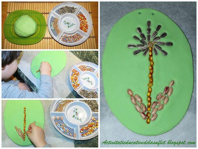 Sortare si motricitate fina cu seminte (2 ani si 7 luni)