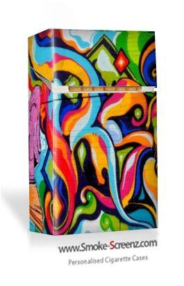 Grafitti design on a cigarette case via www.smoke-screenz.com