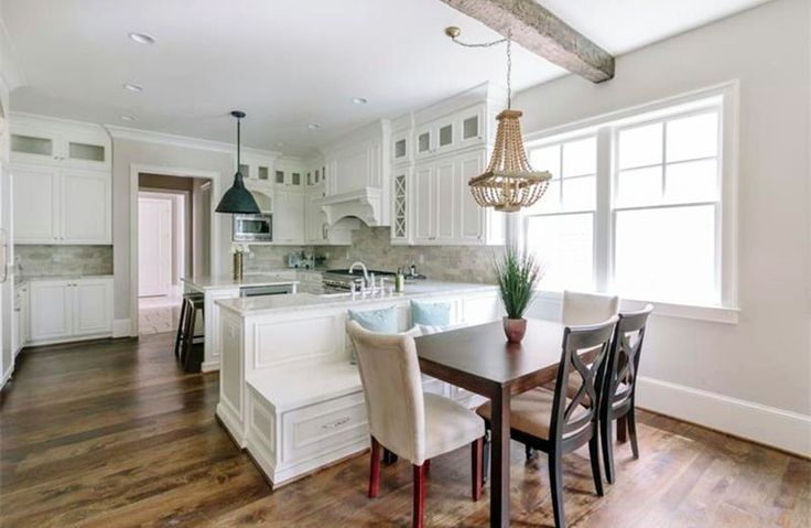 Fabulous Kitchen With Dining Peninsula With Built In Bench Seating Pdpeps Interior Chair Design Pdpepsorg