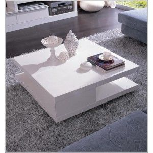 Delightful Greystones Square Lacquer Coffee Table In White