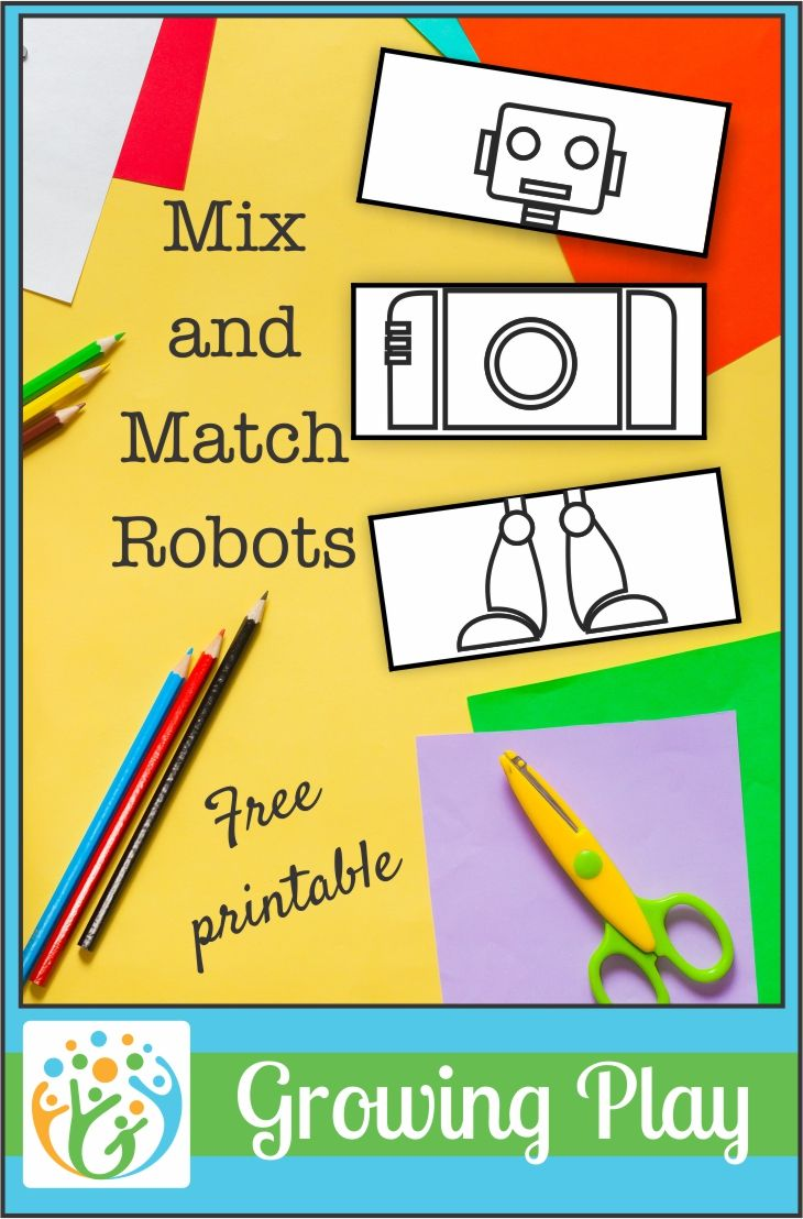 Kids can practice scissor skills, sequencing, and creativity with this mix and match robots printable to help children to grow and play.
