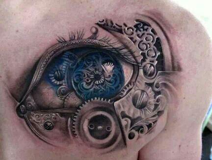 Bio-mechanical tattoo *http://www.pinterest.com/Katiepoo889/tattoos-piercings/