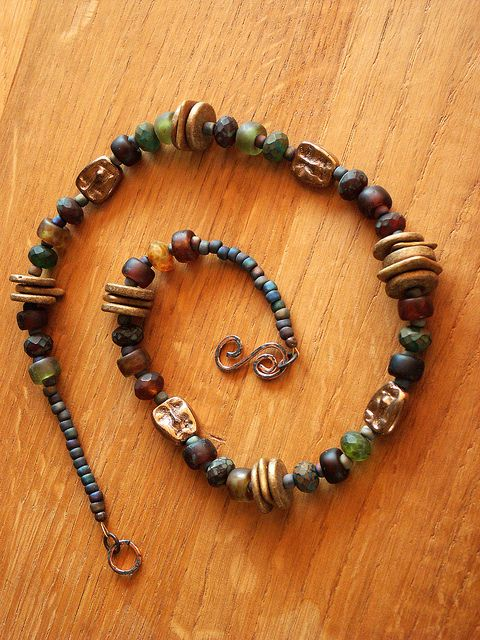 Earthtones Necklace by Carefree Jewelry