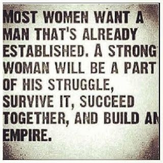 SO TRUE!! Ladies... we all want a man that  can be strong for us, when we are weak, BUT! its IMPOSSIBLE to be strong all the time.. be there for your man, help him through his struggles and  at the end of the day you  both come out on top stronger than ever!!! To have a KING be his QUEEN!