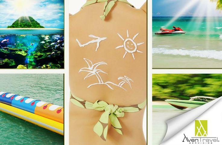 concepto de vacaciones... Viaja con www.aventravel.com