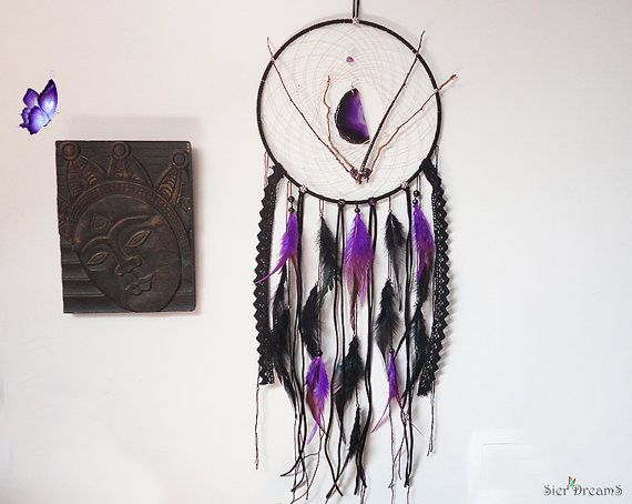 Gothic Dreamcatcher Purple Wall Decor Woodland by SierDreamS