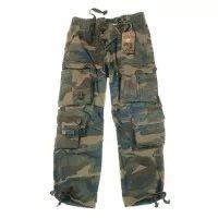 Pantalon treilli vintage army unisexe woodland camouflage