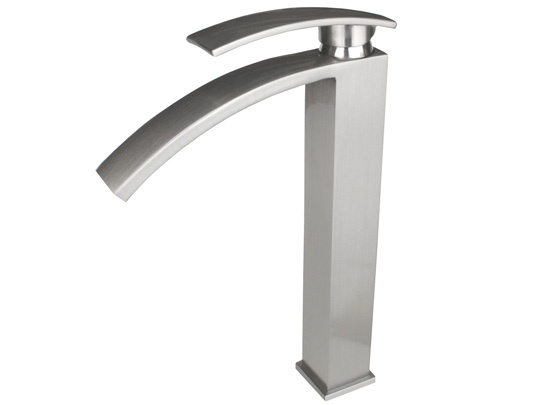 Vessel Sink Faucets | From $99 Modern Brushed Nickel Long Spout Vessel  Faucet
