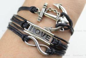 Bracelet-antique bracelet de l'infini de l'argent, l'amour Bracelet, bracelet d'ancrage par itouchsoul