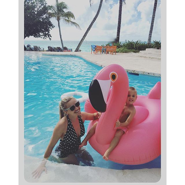 """Pin for Later: Reese Witherspoon's Family Photos Are Absolutely Adorable  """"Last day of vacation!"""""""