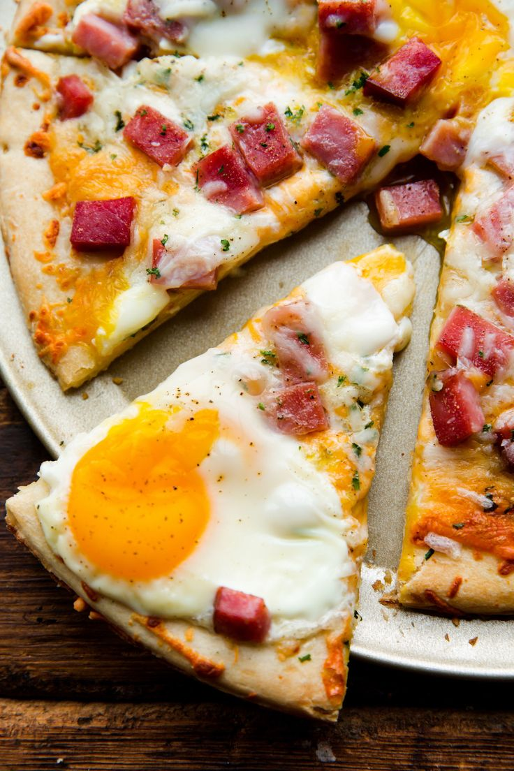 Ham, Egg, & Cheese Breakfast Pizza  - Delish.com