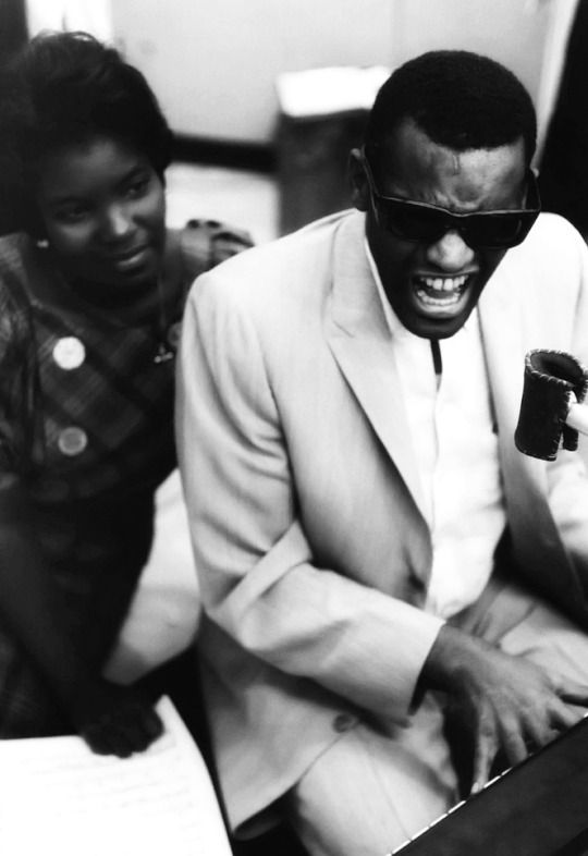 We Had Faces Then Ray Charles at a recording studio in Los Angeles, a 1962 photo by William Claxton
