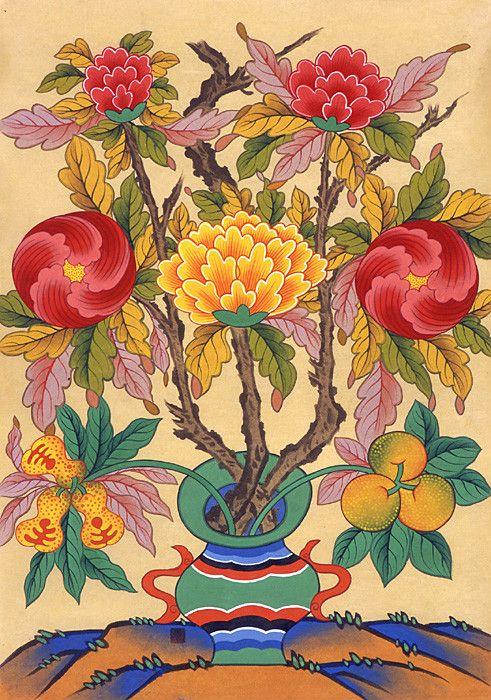 Study of Peonies 박생광/ 모란 봄꽃들이 다 지고 아파트 뜰에 새롭게 피는 모란꽃 ^^ 부귀의 상징인 모란(牡丹)은 화려한 색상과 풍성한 자태 때문에 \'꽃 중의 꽃\'[花王]으로 불리며 폭넓은 사랑을 받는 꽃