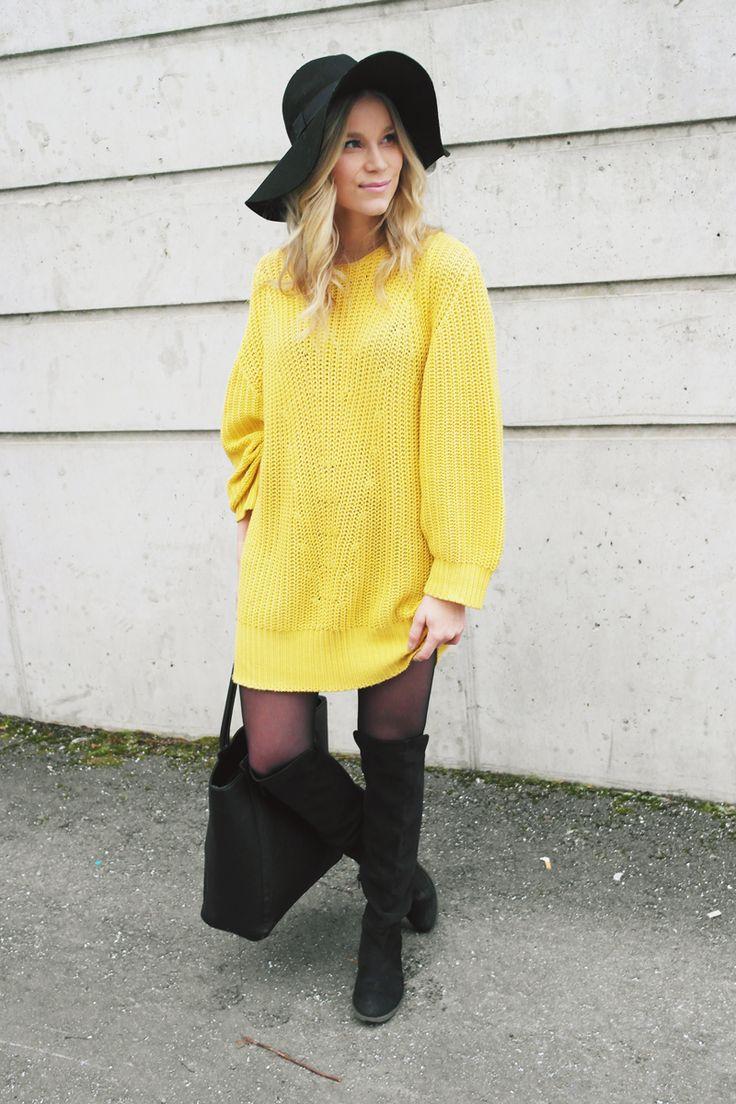 LACK OF COLOUR - Floppy hat + knit outfit
