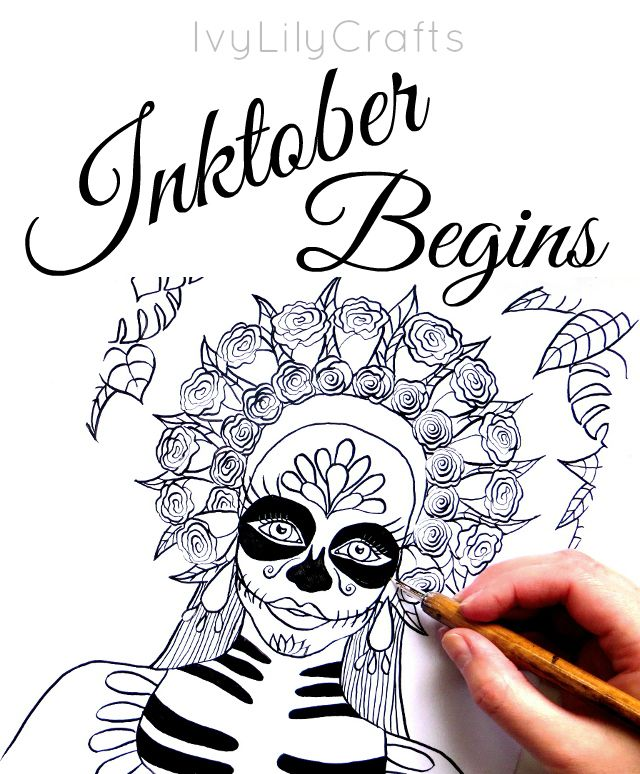 Inktober 2016 begins! Inktober is an art challenge running every October. The rules are simple: make a drawing in ink, post it online and hashtag with #inktober and #inktober2016 and repeat.