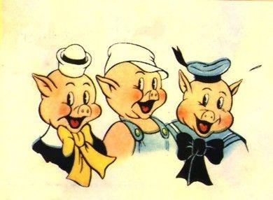 A história dos Três Porquinhos contada por uma mídia sensacionalista.