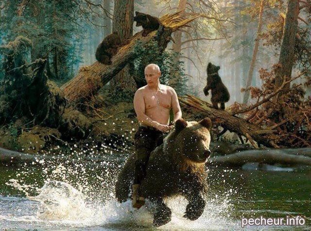 Vladimir Poutine gone fishing