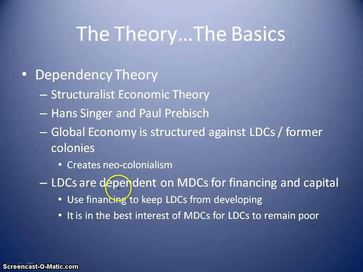 dependency theory and rostow's model