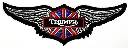 Triumph wing Motorcycles Racing Vintage Biker logo Patch Sew Iron on Embroidered