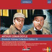 Hören Sie die drei Sherlock-Holmes-Hörspiele: Eine Studie in Scharlachrot, Der griechische Dolmetscher, Die tanzenden Männchen... (11/2008)