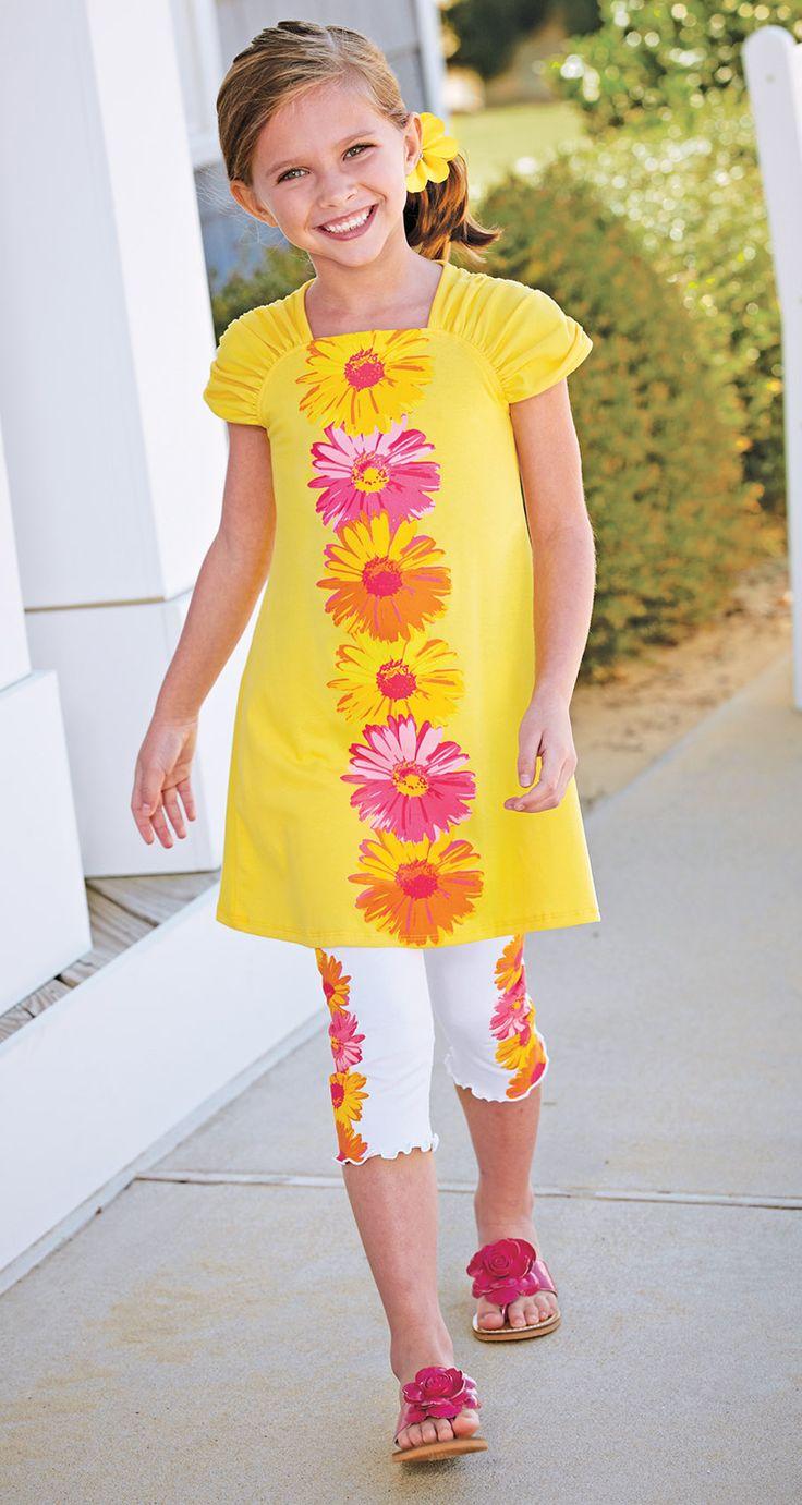 From CWDkids: Daisy Tunic Dress & Capris.