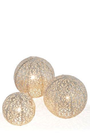 Buy Set Of 3 Balls Oriana Nickel from the Next UK online shop