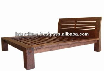 Antique Reproduction Bed Frame Balinese Style Rustic Furniture ...