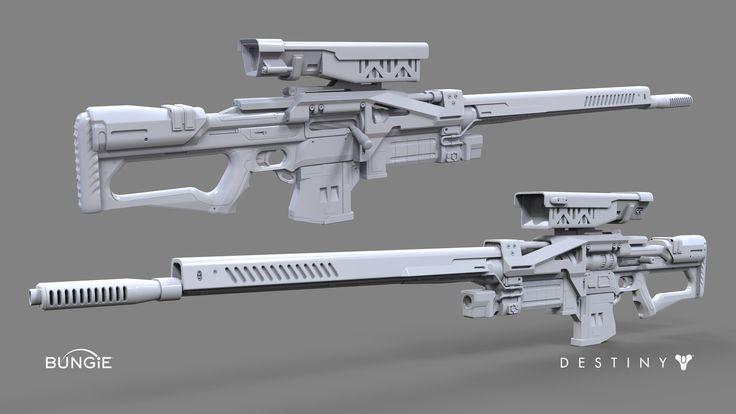ArtStation - Destiny: Sniper Rifle B, David Stammel