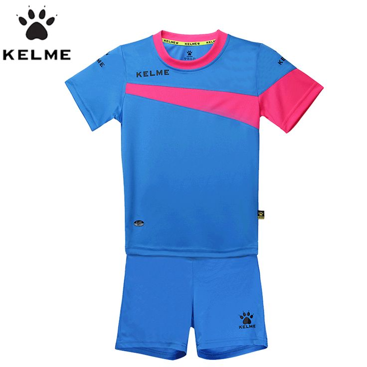 KELME Children Soccer Sets Boys Football Jerseys Clothing Set 2pcs Sportswear Suit For Kids Uniform Survetement Sports K15Z253