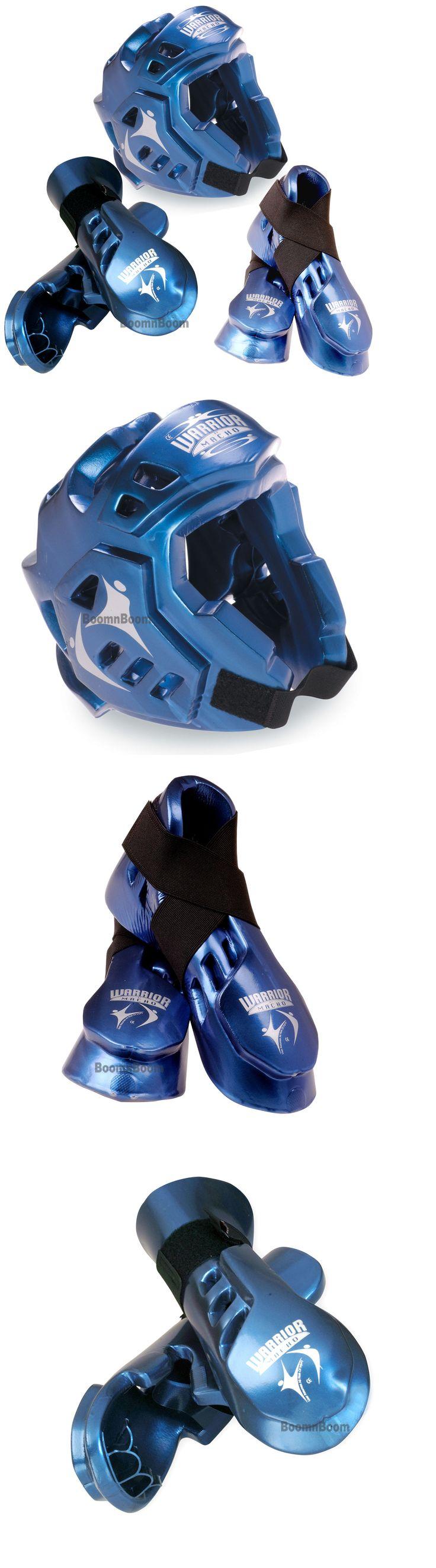 Head Gear 179780: New Taekwondo,Karate Mma Headgear,Hand,Foot Macho Warrior Sparring Gear Set-Blue -> BUY IT NOW ONLY: $106.99 on eBay!