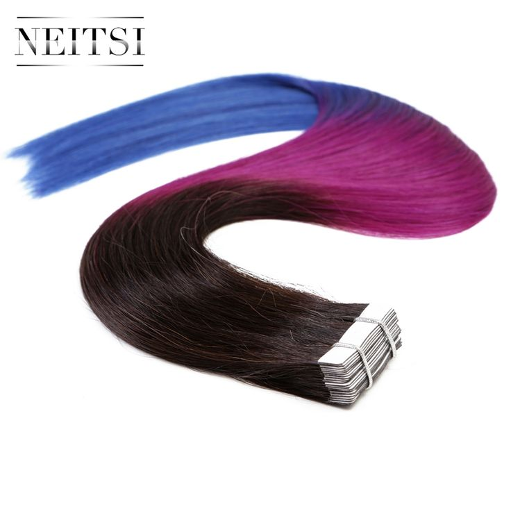 ==> [Free Shipping] Buy Best Neitsi Ombre Tape In Human Hair Extension 5A 100% Straight Indian Virgin Remy Hair Skin Weft Hair 20 20pcs 50g Three Tone Color Online with LOWEST Price | 32268705501