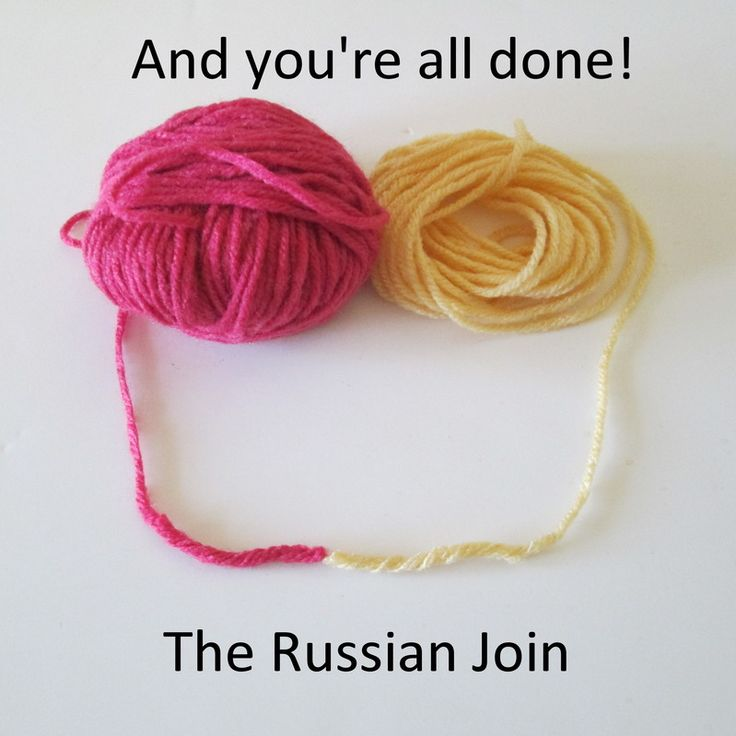 Knitting Russian Join Yarn : Picture crochet knitting pinterest joining yarn