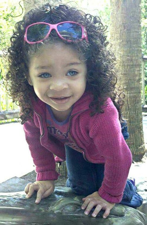 cute mixed baby girls with curly hair wesharepics