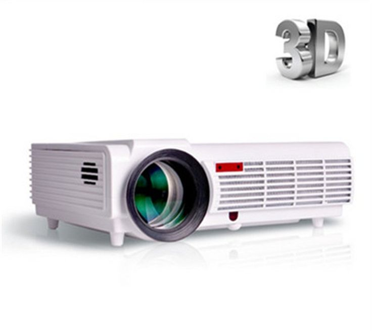 Hot sale 5500Lumens(LCD) Home Theater Projector LED 1080P HD 3D LCD Projectors with 2HDMI VGA 2USB AV Best Home Protector Standard version (no android wifi)
