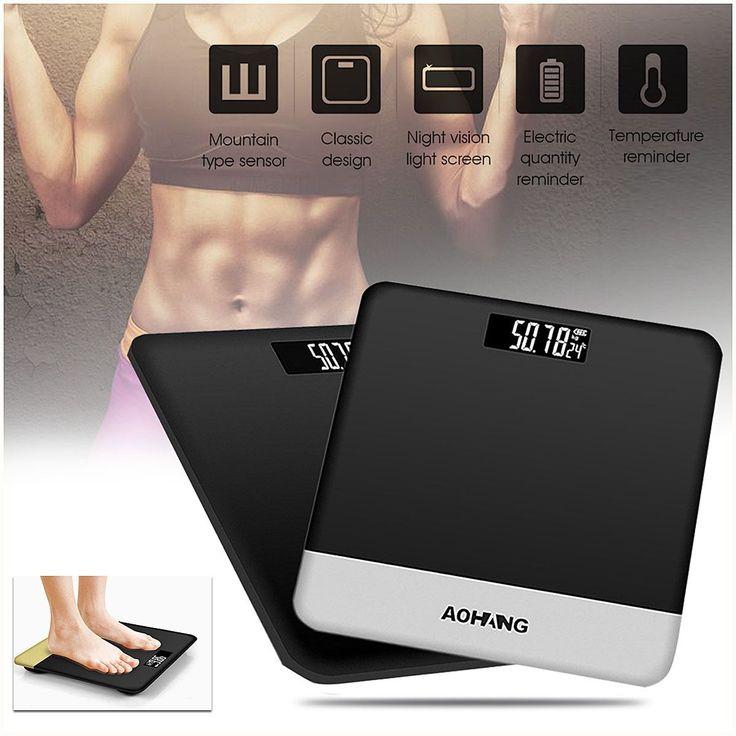 Holmark Electronic LCD Digitial Peso corporal Escala Aptitud Grasa Healty Beauty