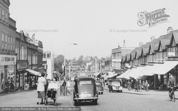 Worcester Park, Central Road c1955